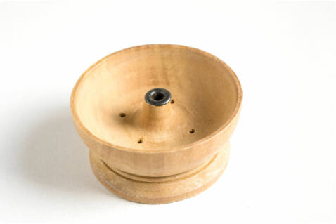 Füstölőtartó natúr kerek - fából