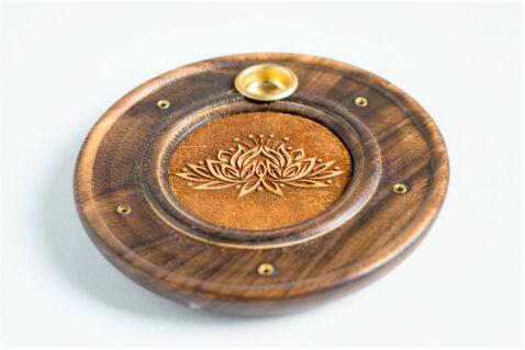 Füstölőtartó pálcikákhoz és kúpokhoz - Lotus mintával