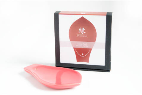 Yukari kerámia füstölőtartó - rózsaszín