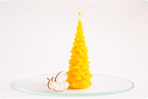 Méhviasz gyertya fenyő kicsi 3,5x9cm