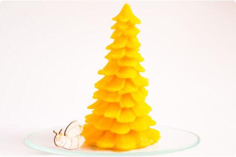 Méhviasz gyertya óriás fenyő 8x13,5cm