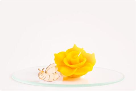 Méhviasz úszógyertya rózsa