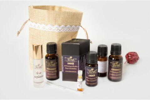 Melegen ölelő Július – Amber luxus parfüm készlet