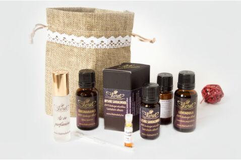 Napsütötte szeptember – Szantál luxus parfüm készlet